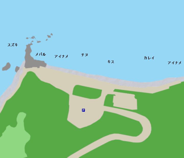 大塚海岸ポイント図