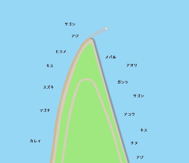 境水道白灯台周辺ポイント図