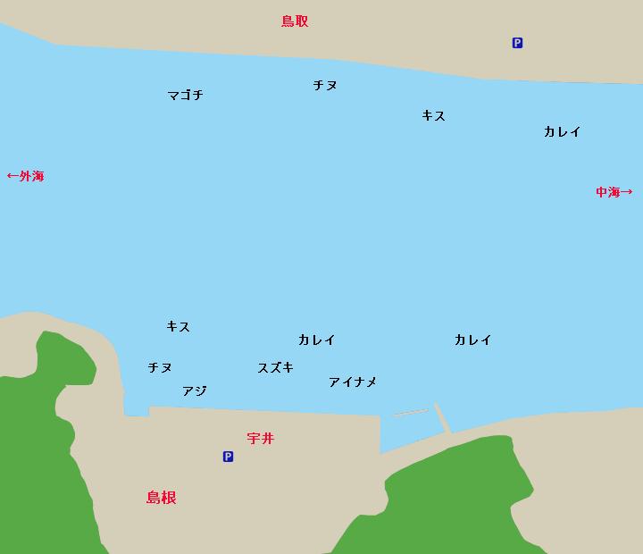 宇井岸壁周辺ポイント図