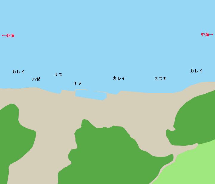 境水道森山岸壁周辺ポイント図