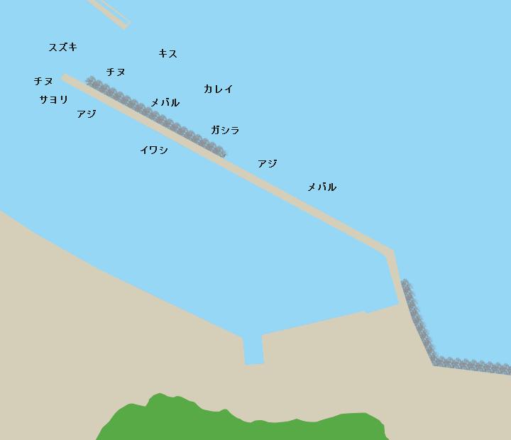 坂越漁港ポイント図