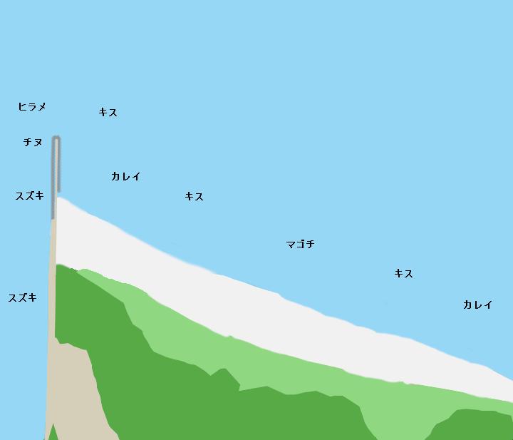 鳥取砂丘海岸ポイント図