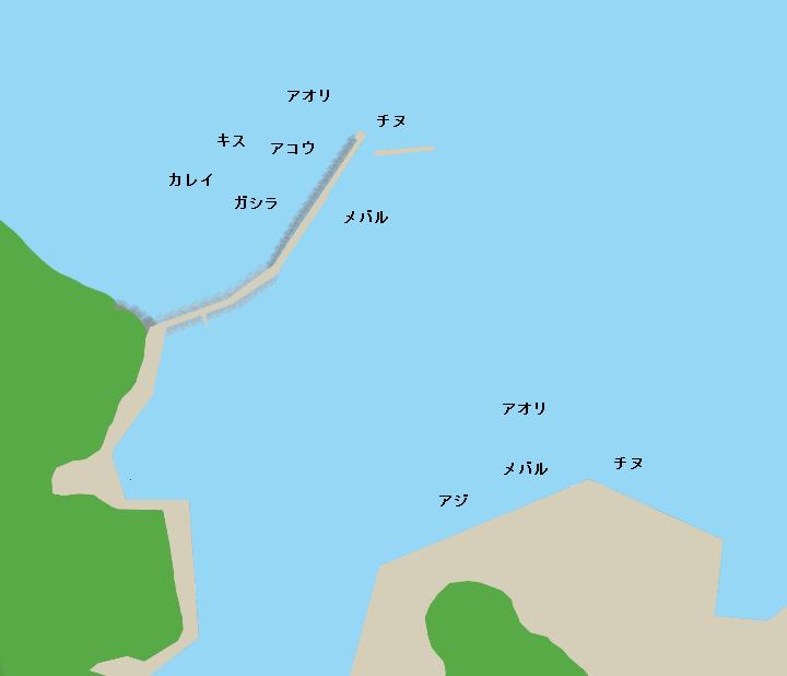 柴山港ポイント図