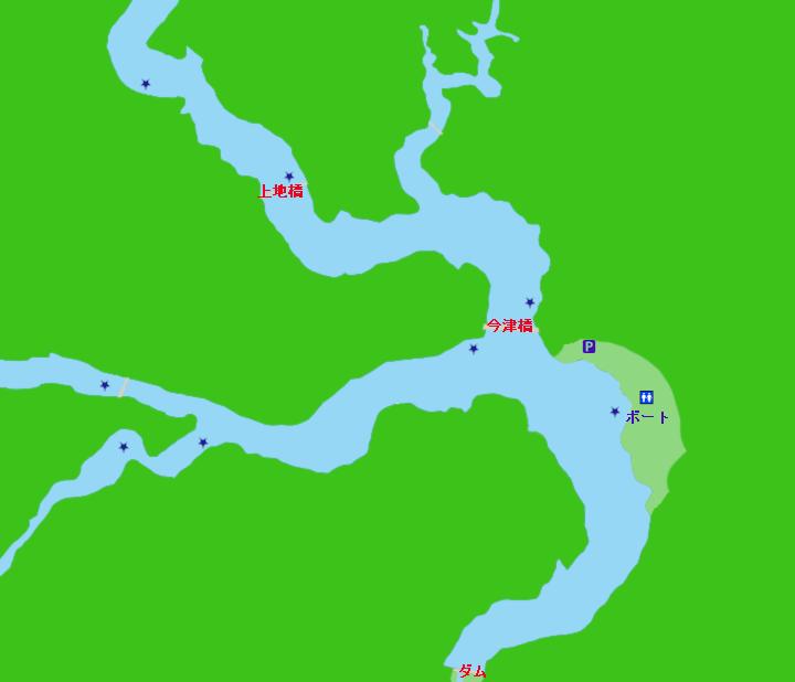七川ダムポイント図