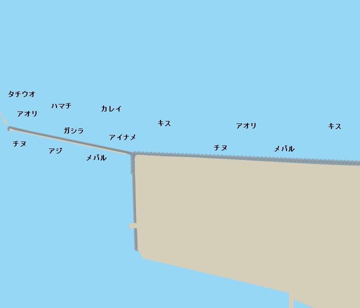 志筑新島ポイント図