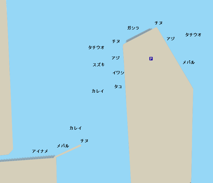飾磨港ポイント図