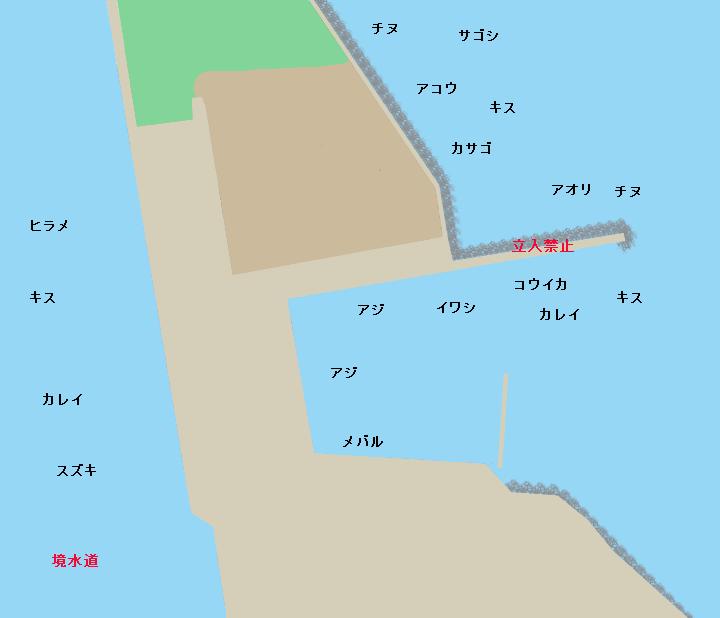 潮見港ポイント図