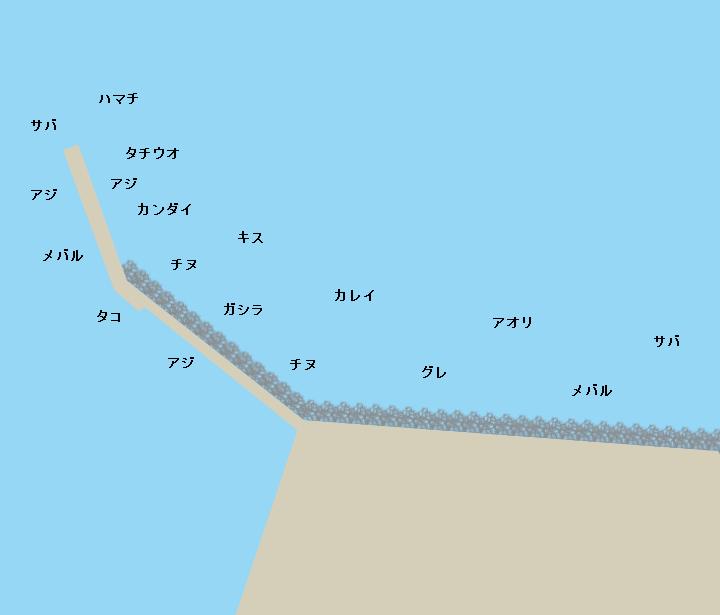 塩田新島ポイント図