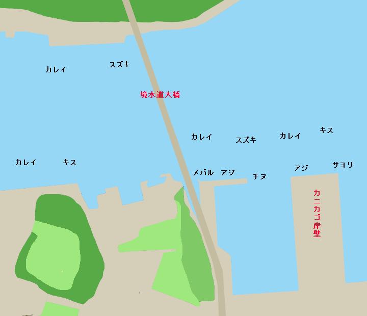 境水道大橋周辺ポイント図