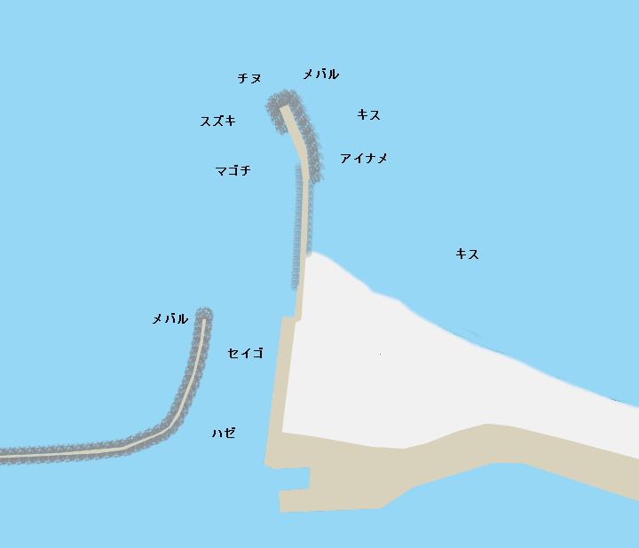 鈴鹿漁港ポイント図
