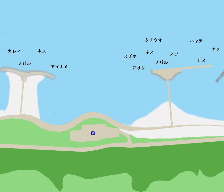 多賀の浜ポイント図