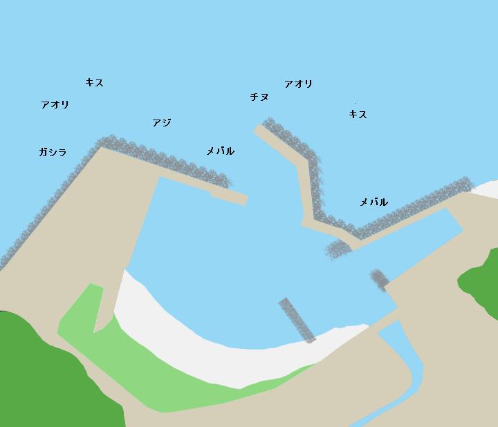 田結漁港ポイント図