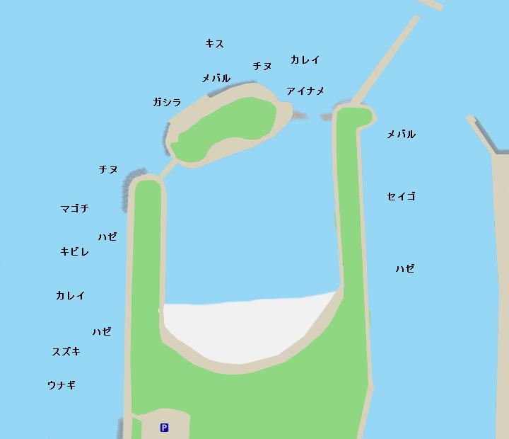 高砂海浜公園ポイント図
