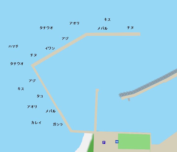 炬口漁港ポイント図