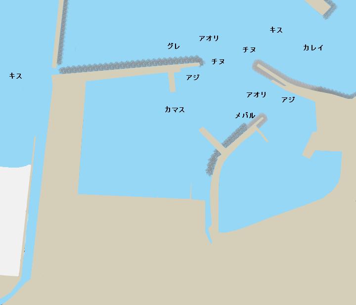 泊漁港(鳥取)ポイント図