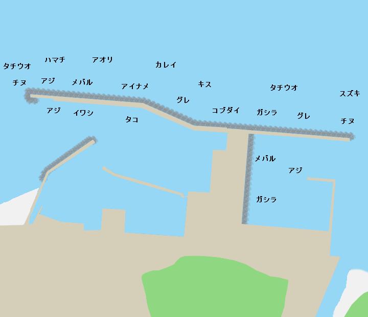 鳥飼漁港ポイント図