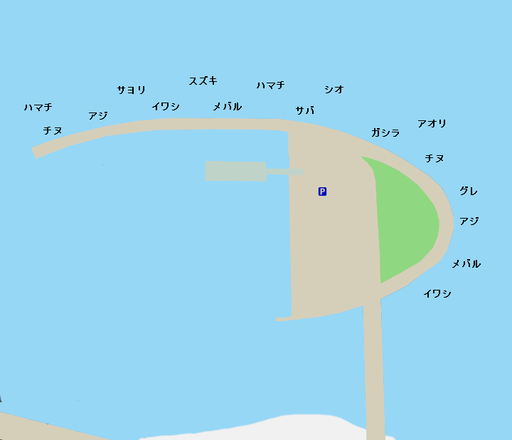 翼港ポイント図