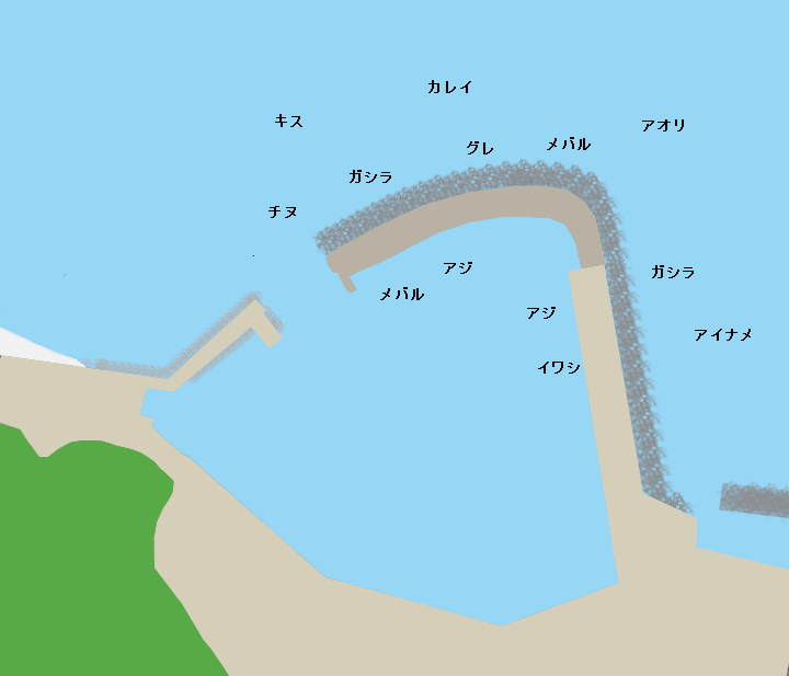 津井漁港ポイント図