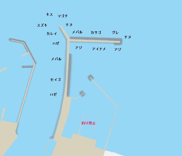 津ヨットハーバーポイント図