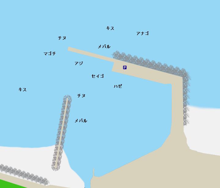 若松漁港ポイント図