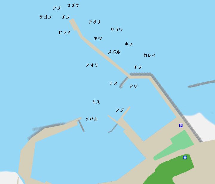 淀江漁港ポイント図