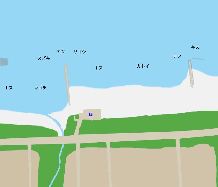 弓ヶ浜展望台付近ポイント図