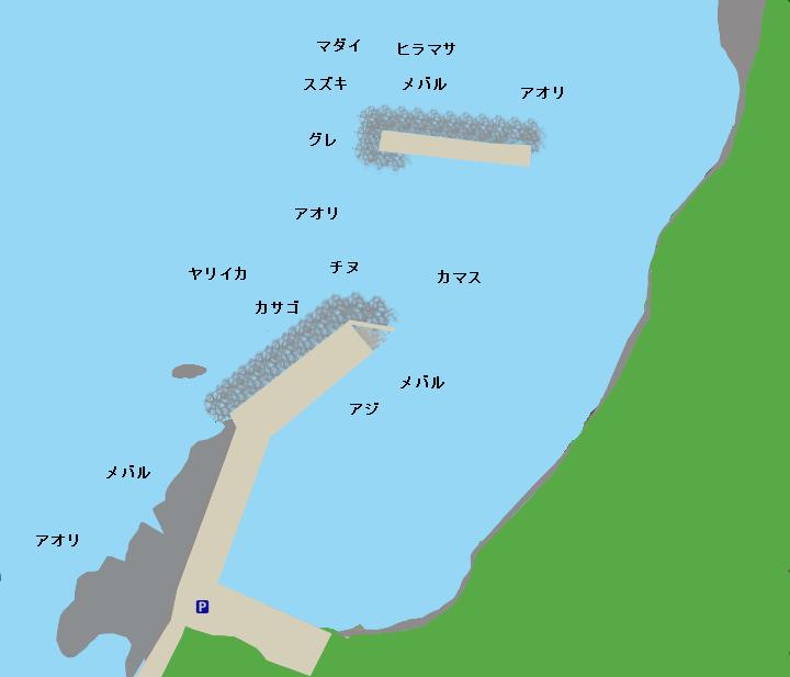 網屋港ポイント図