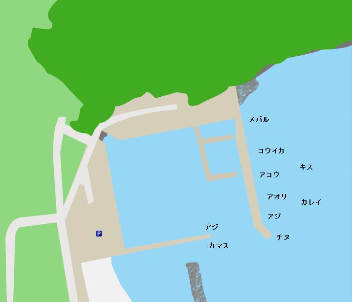 阿納漁港ポイント図