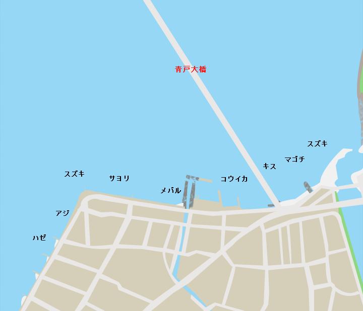 青戸大橋本郷側ポイント図