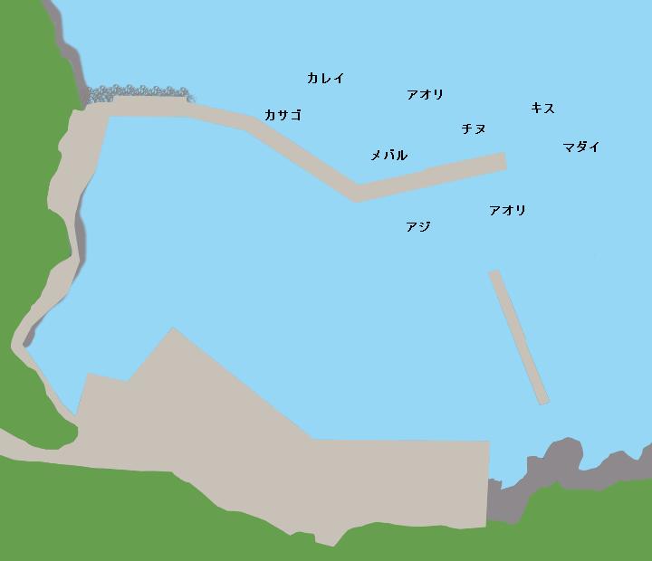 新井崎漁港ポイント図