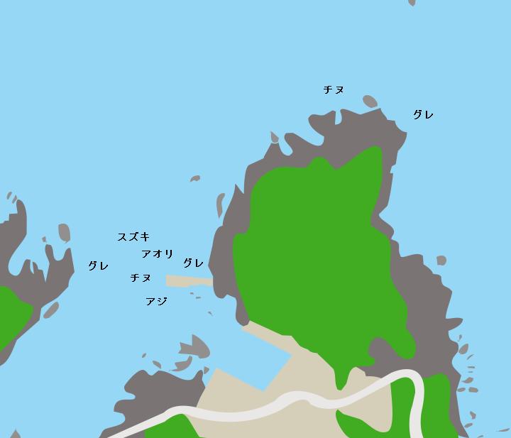 旭漁港ポイント図