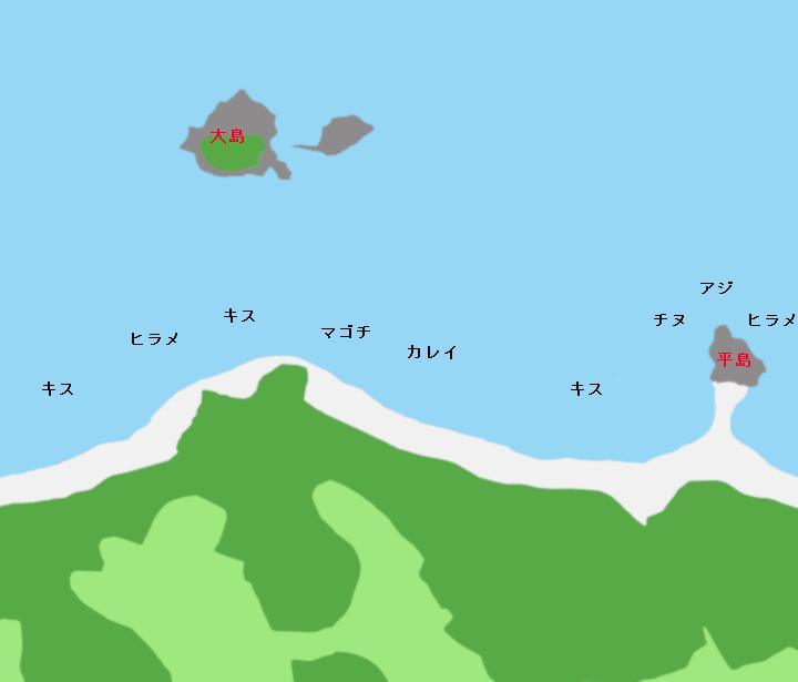 浅利海岸ポイント図