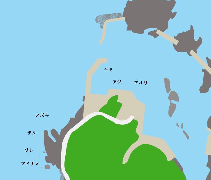 浜詰漁港ポイント図