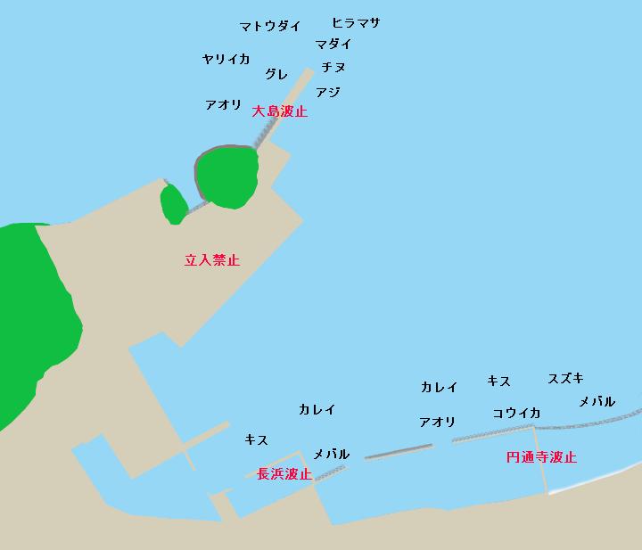 浜田商港ポイント図