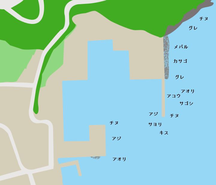 日引漁港ポイント図