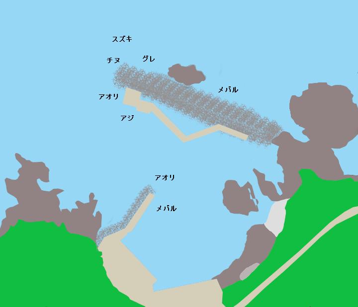 今浦漁港ポイント図