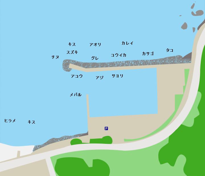 犬熊漁港ポイント図