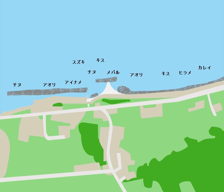加斗海岸ポイント図