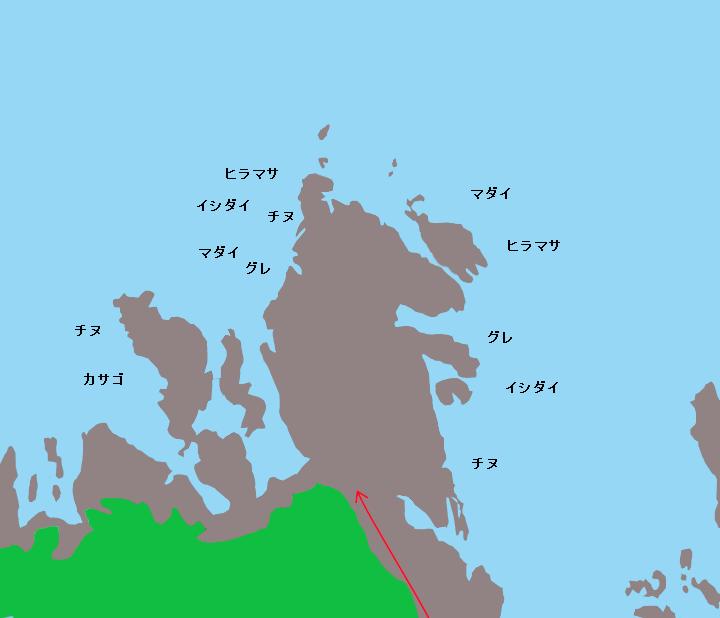 唐音の蛇岩ポイント図