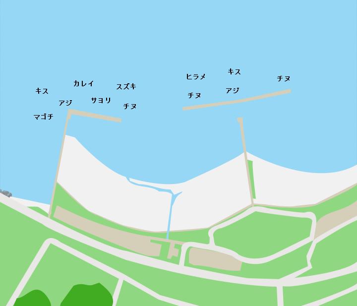 鯉川シーサイドパークポイント図