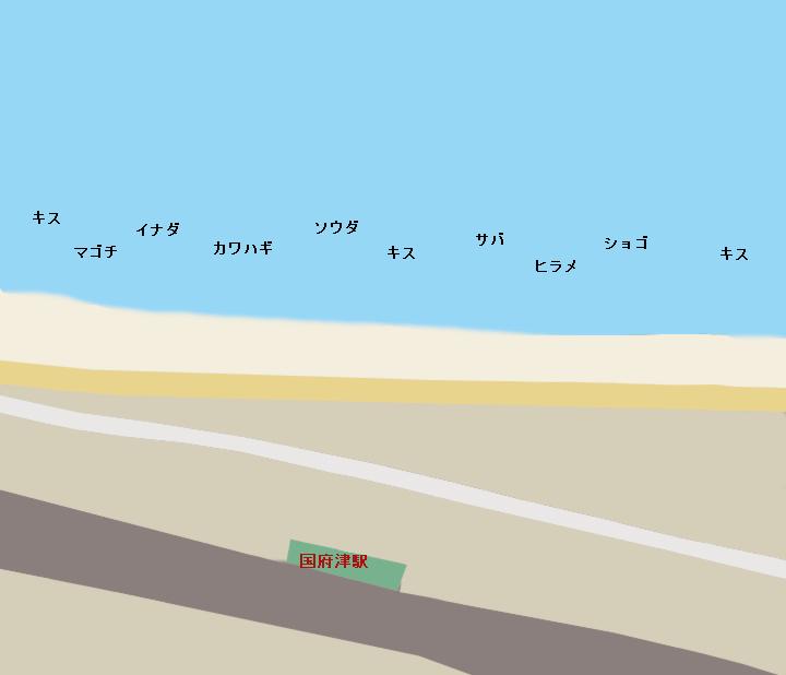 国府津海岸ポイント図