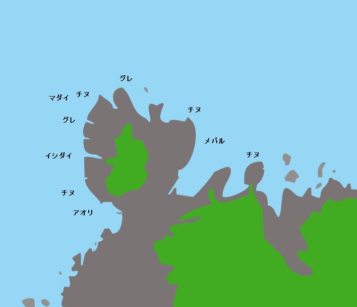 小山磯ポイント図