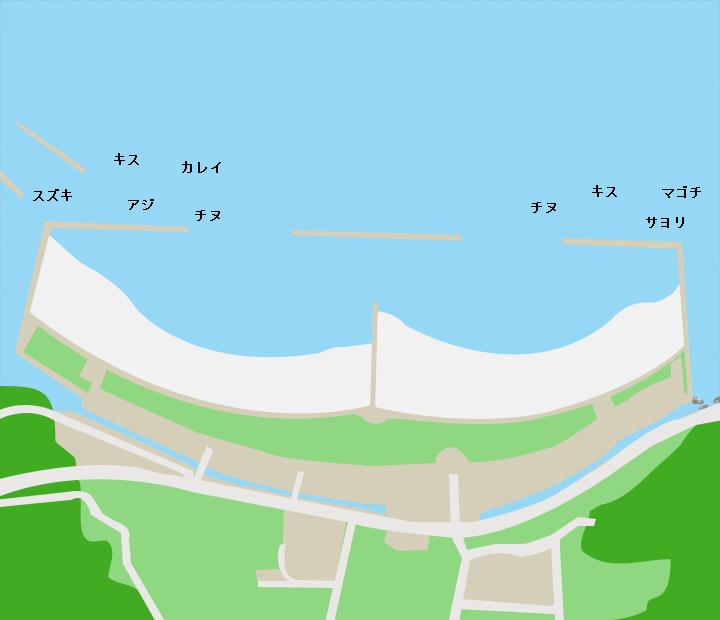 長井浜ポイント図
