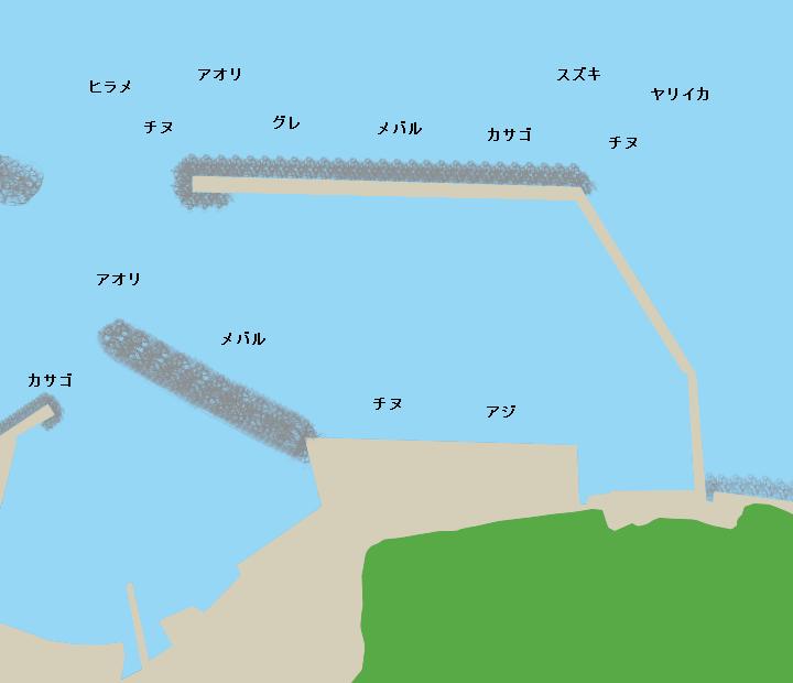 小田東港ポイント図