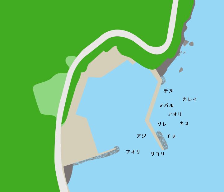 小黒飯漁港ポイント図