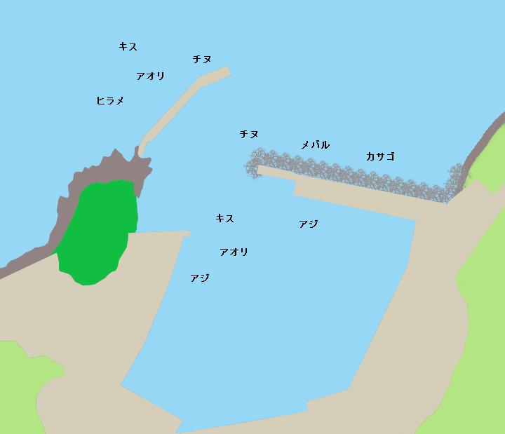 大浜漁港ポイント図