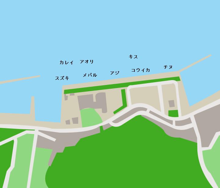 大島漁港ポイント図