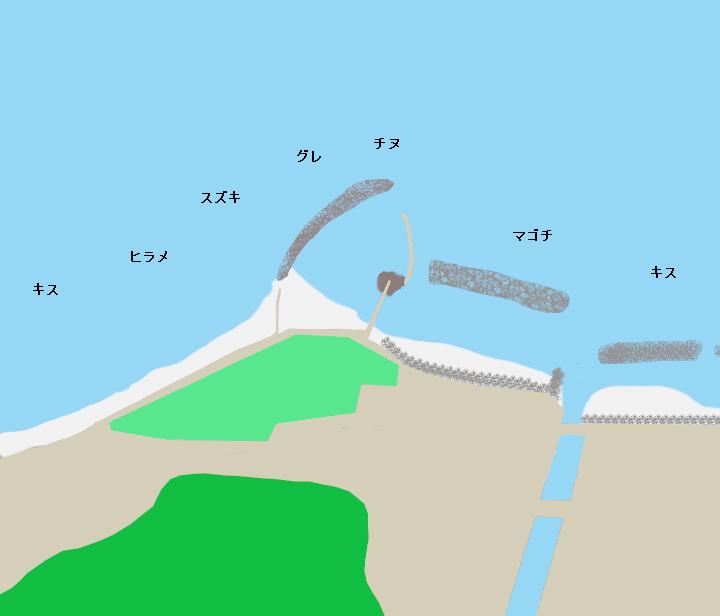 折居海岸ポイント図