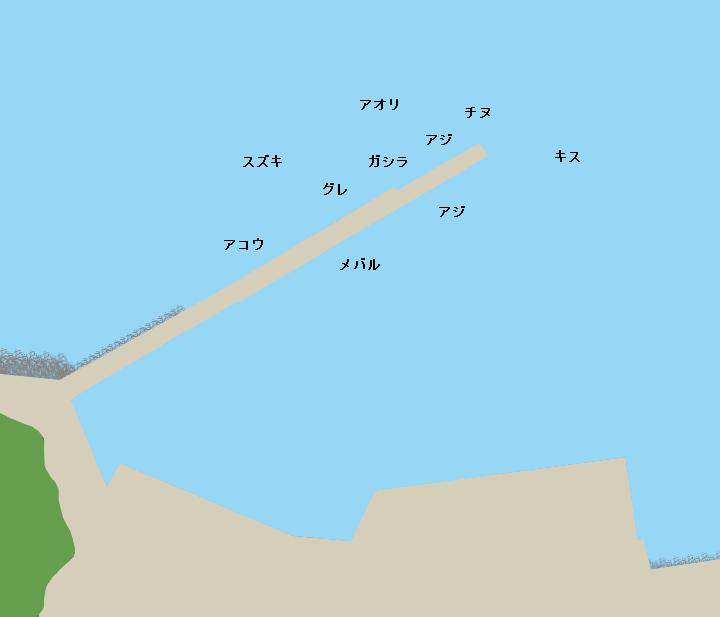 島陰漁港ポイント図