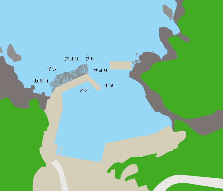 塩江漁港ポイント図